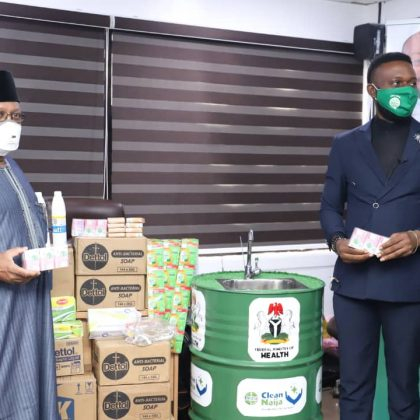Dettol, Jik maker donates N65m worth of hygiene products to Nigerian govt