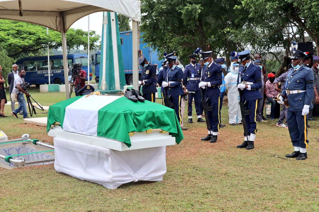 First Nigerian female combat pilot buried in Abuja as Senate condoles with family